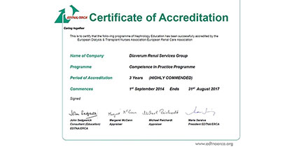 Our CiP programm is certified by EDTNA