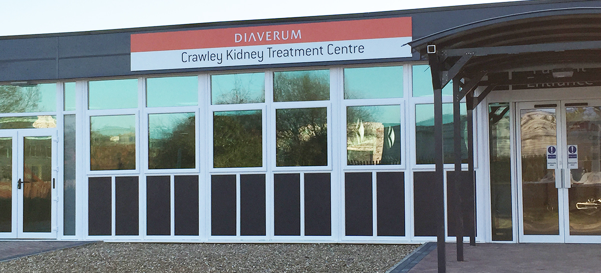 Welcome to CRAWLEY KIDNEY TREATMENT CENTRE