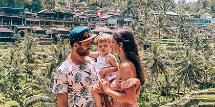 Filipe Almeida travels around the world with his family
